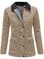 ENVY BOUTIQUE LADIES QUILTED PADDED BUTTON ZIP WOMENS WINTER JACKET COAT TOP PLUS SIZES 8-20