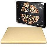 Navaris Piedra para pizza de cordierita - Piedra para horno rectangular...