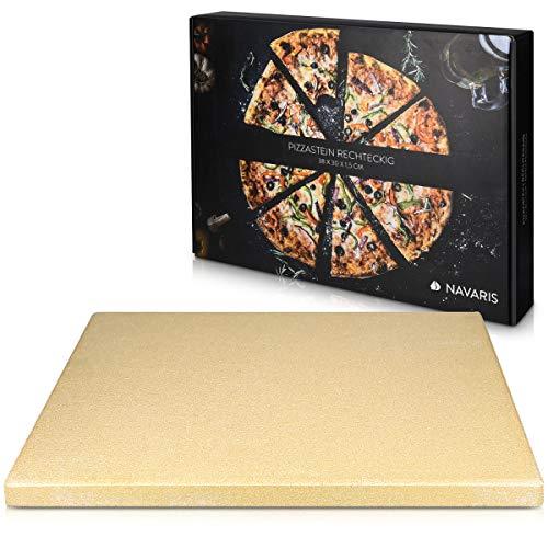 Navaris Piedra para pizza de cordierita - Piedra para horno rectangular para pizza o pan -...