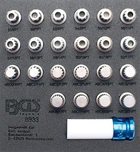BGS 8933 | Felgenschloss-Werkzeug-Satz für VAG | 23-tlg.