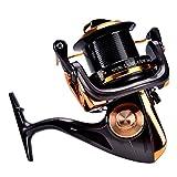 Carrete de Spinning 12 + 1BB Carretes de Pesca de Alta Velocidad de Fundición Metálica para Pesca Agua Salada de Agua Dulce(8000)
