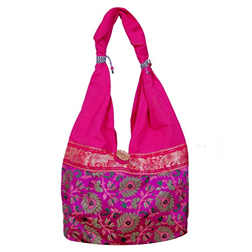 Womaniya Women's Jhola Bag (Pink,Woman-1367)  available at amazon for Rs.234