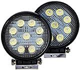 #7: ATZ 9 LED Round Universal Auxiliary Lamp (27W, Set of 2)