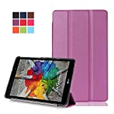 LG G Pad3 8.0 Carcasa,Ultra Delgado Ligero Protección Funda de Cuero Piel Book Cover Smart Case...