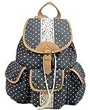 Yiuswoy Praktische Grosse Kapazitaet Wave Punkt Segeltuch Taschen Reisetaschen Schultaschen Rucksack