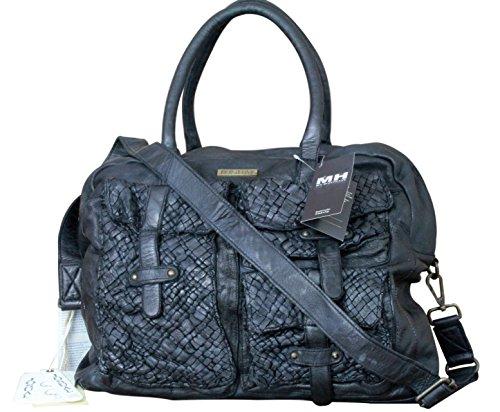 Fabriqué en Italie Luxe Designer Femme Sac Shopper Vintage Noir josual Londres