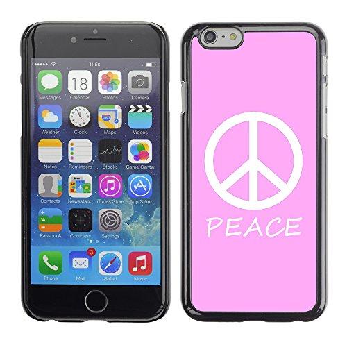 Graphic4You Peace Sign Friedenszeichen Design Harte Hülle Case Tasche Schutzhülle für Apple iPhone 6 / 6S (Königsblau) Rosa