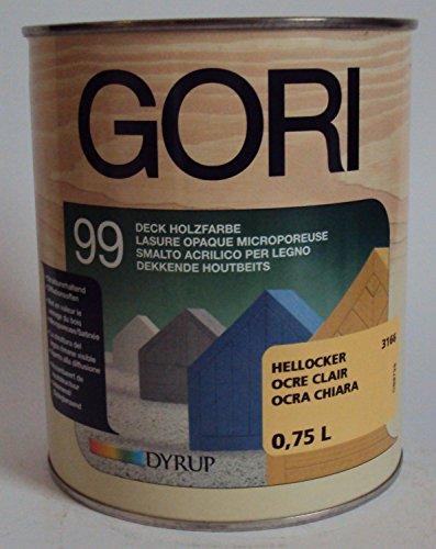 Gori 99 Holzfassaden-Farbe - 5 Liter (Hellocker)