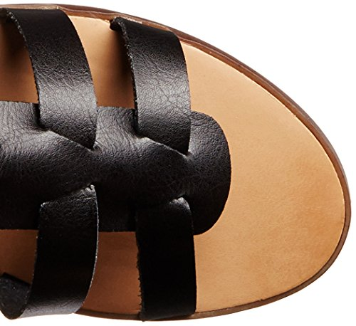 Madden Girl Penna Gladiator Sandal Black Paris