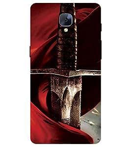 Chiraiyaa Designer Printed Premium Back Cover Case for One Plus 3 (sword) (Multicolor)