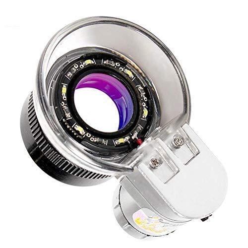 Cxm Taschenlupe mit 20-Fach-HD-Objektiv mit Mini-Objektiv, beleuchtet und beleuchtet 16 LED-Lampen, Kalligraphie, Malerei, Identifikation, Münzen, Schmuck, Porzellan, Briefmarkensammlung