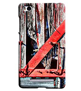 Blue Throat Red Handle Hard Plastic Printed Back Cover/Case For Xiaomi Mi4i