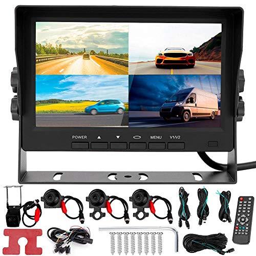 KIMISS 1080P 7 pulgadas HD 4 canales Coche Dash Cam