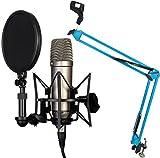 Rode NT1-A Set Kondensator Mikrofon + KEEPDRUM NB35 BL Blau Gelenkarm Stativ Blue