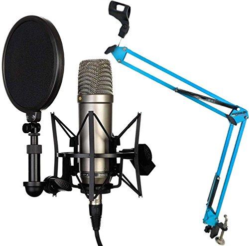 Rode NT1-A Juego condensador Micrófono Keepdrum brazo articulado trípode 5-nb35, azul