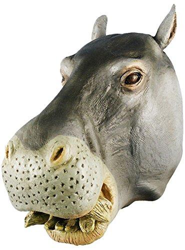 Queenshiny® Latex Tiermaske Halloween-Party-Kostüm (Maske Nilpferd Latex)