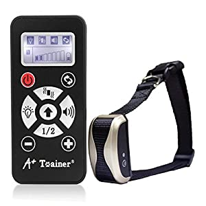 Collier de Dressage Anti-aboiement Etanche Rechargeable pour Chien en Mode de Bip / Vibration et Automatique Ecran LCD