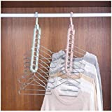 Eitheo Pack of 1 Multifunctional Wardrobe Space Saver Folding Smart Hangers,Smart Hangers Set for Clothes Wardrobe, 360…
