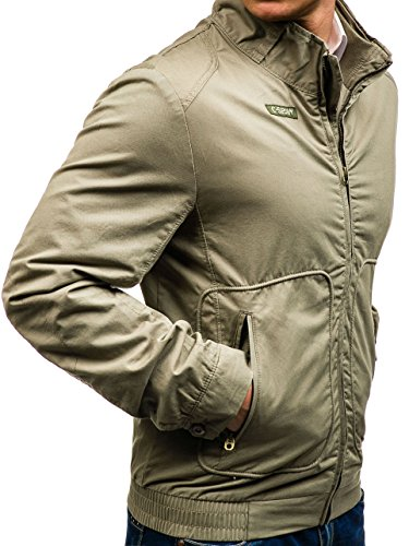 BOLF - Veste à fermeture éclair – Softshell – Homme Beige