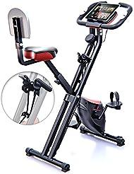 Sportstech F-Bike X100 & X150 - 4in1 Heimtrainer - X Bike - patentiertes Zugbandsystem - Handpulssensoren - Ergometer - Hometrainer - Faltbares Fitness-Fahrrad - Tablethalterung - Rückenlehne klappbar
