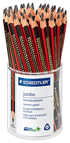 Staedtler 1285 KP50 Noris Club Jumbo Schreiblernstift, Härtegrad 2B, Köcher mit 50 Stück