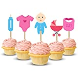 Party Propz Baby Shower Cupcake topper/ BabyShower Cake Decoration (Multicolour) - Set of 14