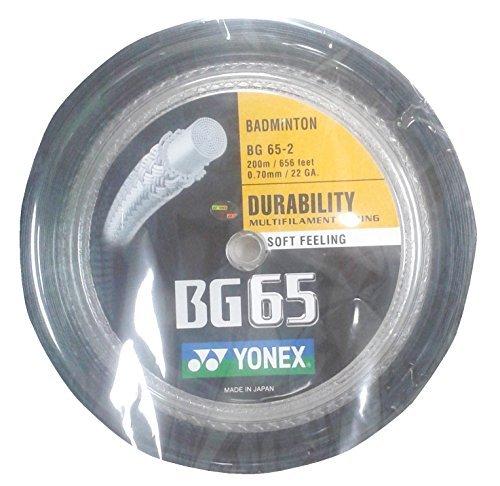 Yonex BG 65 - 2 Black Badmintonsaite 200 m