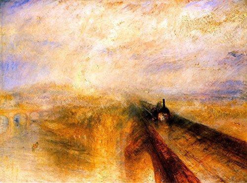 Das Museum Outlet-Regen Dampf und Geschwindigkeit, The Great Western Railway von Turner Gespannte Leinwand Galerie verpackt. 29,7x 41,9cm -
