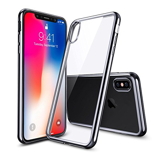Funda iPhone X, ESR Funda Transparente Suave TPU Gel [Ultra Fina] [Protección a Bordes y Cámara] [Compatible con Carga Inalámbrica] Enjaca Perfecta para Apple Nuevo iPhone X de 5.8 pulgadas 2017 -Transparente