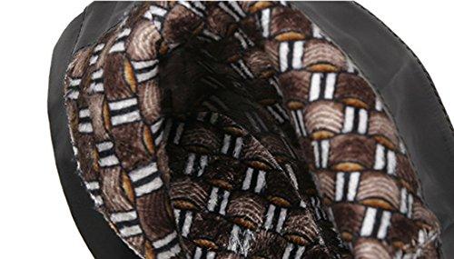 JAZS® Stivaletti Martin Stivaletti a punta corta Sexy stivaletti a tacco alto slim Lace Autumn And Winter Comodo, resistente all'usura, sexy, dolce. ( Colore : Nero , dimensioni : 37 ) Nero
