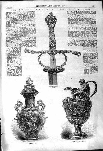 Klingen-Chelsea-Vasen-Silber Ewer 1868 Leeds-Kunstausstellungs-Johns Hampden Flaxman Ewer-vase