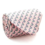 Davidoff Mens Luxury 100% Silk Pink Rose Boat Anchor Patterned Slim Necktie - 22651