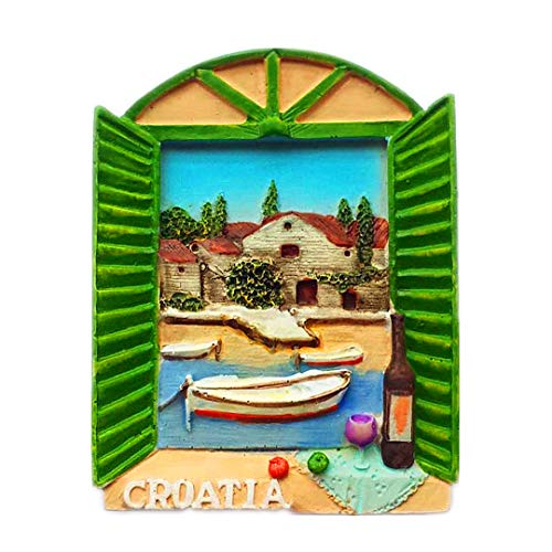 Fenster Kroatien 3D kühlschrank kühlschrankmagnet Reise Stadt Souvenir Sammlung küche Dekoration weiß Bord Aufkleber Harz