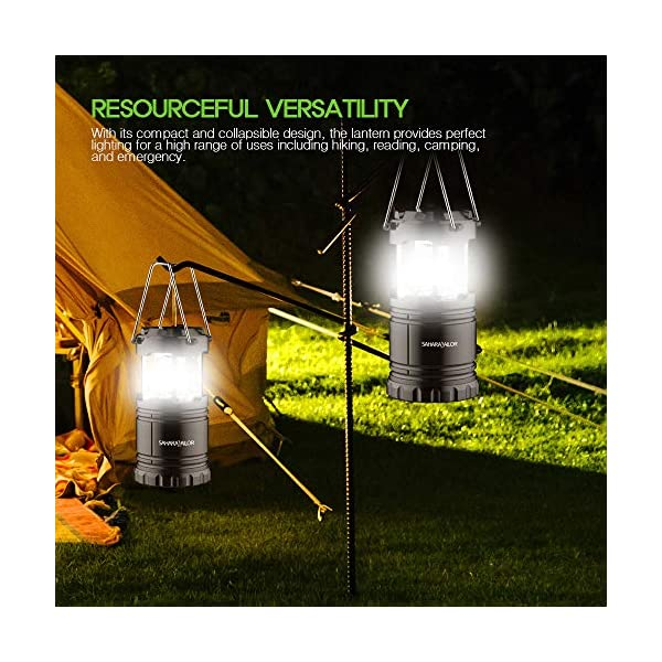[2 PACK] Camping Lantern- Sahara Sailor Ultra Bright LED Lantern- Collapses - Suitable for: Hiking, Camping, Emergencies, Hurricanes, Outages - Super Bright - Lightweight - Water Resistant 4