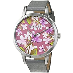 Mike Ellis New York Women's Quartz Watch with Multicolour Dial Analogue Display and Leather anthracite - SL4310B8