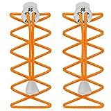 55 Sport élastique Verrou Lacets pour la Course à Pied et de Triathlon - Orange - Orange Fluo, One Size