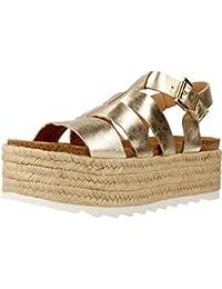 Alpargatas para mujer, color gold , marca ALPE, modelo Alpargatas Para Mujer ALPE D STEFANY B Gold