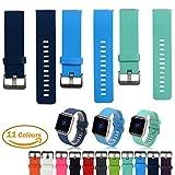 3PCS Fitbit Blaze Accessoires Klassische Uhrenarmbänder, iFeeker Einheitsgröße Weichem Silikon Ersatz Sport Bügel Ba