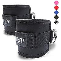 Preisvergleich für FitSelf Sports Fußschlaufen (gepolstert) (2Stück) - für Fitness Training am Kabelzug - für Frauen und Männer - 2 Jahre Gewährleistung