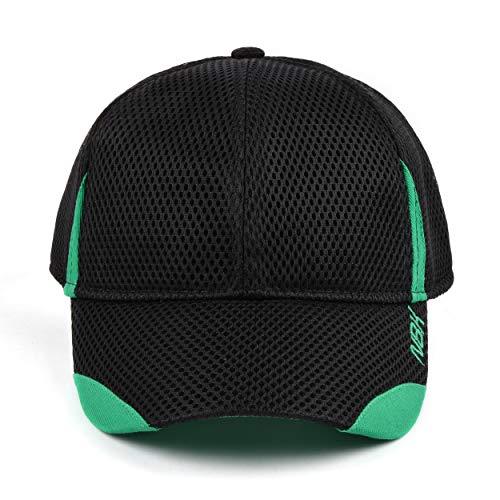 Nonbak Cap Cap Mesh Casual / Running Breathable Fabric Embroidery Logo Unisex 3 Colors (Black)