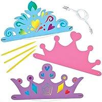 Baker Ross Diadèmes et Couronnes de Princesse à Gratter Que Les Enfants pourront Créer et Personnaliser Avant de Les Porter (Lot de 6)