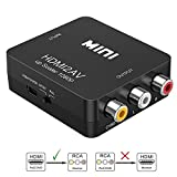 #2: Frackson Composite Video Audio Converter Adapter with USB Charge Cable Compatible with Google Chrome / AnyCast / Amazon Fire Stick / Roku
