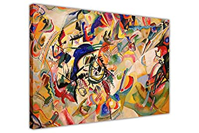 Composition Vii By Wassily Kandinsky Canvas Wall Art Pictures Room Decoration Prints - inexpensive UK light shop.