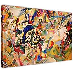 "Komposition VII von Wassily Kandinsky auf Leinwand, Wandbild, Print, canvas holz, 09- A0 - 40"" X 30"" (101CM X 76CM)"