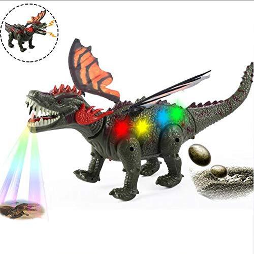 ZMH Walking Electric Dinosaurier Spielzeug, Simulation Jurassic Dinosaurier Modell, Projektion/Eier Legen/Sounds, Lichter/Bewegung, Spielzeug für Junge Kinder
