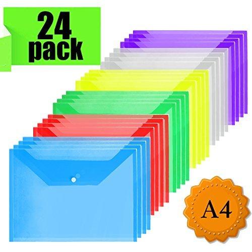 Cartelline Trasparenti - A4 Cartelline Portadocumenti Cartelle Plastica Per Documento Storage (24 pz)
