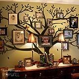Riesige Familie Phot Baum Wand Aufkleber Abnehmbaren Wand Aufkleber Room Decor(Schwarz)