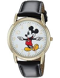 Disney Men's 'Mickey Mouse' Quartz Metal Casual Watch, Color:Black (Model: WDS000405)
