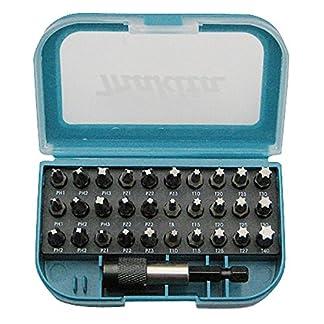 Makita P-73374 punta de destornillador 31 pieza(s) – Puntas de destornillador (31 pieza(s), Phillips, Pozidriv, Torx, 2xPH1, 4xPH2, 2xPH3, 2XPZ1, 4xPZ2, 2xPZ3, 1xT8, 2xT10, 2xT15, 2xT20, 3xT25, 1xT27, 2xT30, 1xT40.)