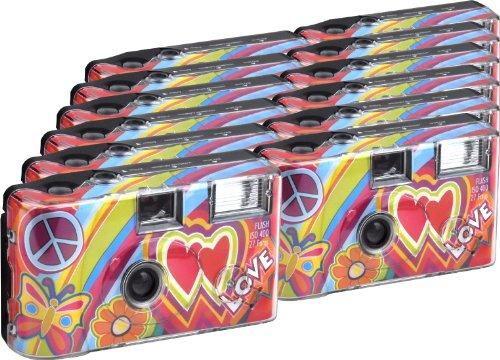 TopShot Love Cult Einwegkamera / Hochzeitskamera (27 Fotos, Blitz, 12-er Pack)